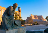 Uzbekistan. Khiva. Statue of Muhammad ibn Musa al-Khwarizmi - famous scientist born in Khiva in 783. The term 'algorithm' still reminds us of him because his name was rendered as Algoritmi in Latin.