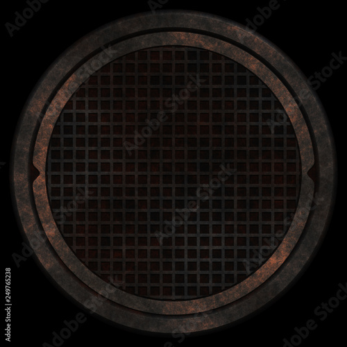 3D old grunge porthole texture © Kirsty Pargeter