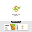 Financial Logo Template, Accounting Logo Template, Free Business Card