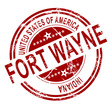 Fort Wayne stamp with white background