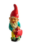 Garden gnome isolated on the white background