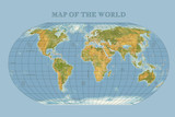 Colored vector World Map - borders, countries