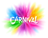 Carnival title with colorful explosion. - 249832601