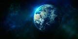Blauer Planet unsere Erde im Weltall - 249840009