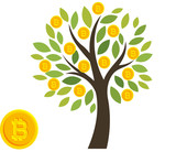 GOLD COINS BITCOIN grow on TREE