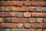 Background of an old stone brick wall shot close-up