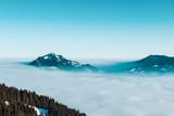 Winter mountain in fog - 249845080