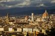 Quadro Italia, Toscana, Firenze, ccìveduta della città, il duomo e Palazzo Vecchio.
