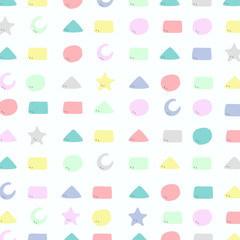 Abstract colorful geometric pattern of cute design for kid background.