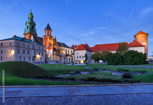 Wawel Cathedral And Castle At Dusk