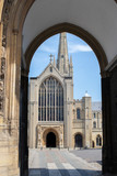 Exterior Of Norwich Cathedral In Norfolk UK - 249886205
