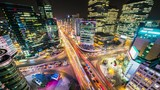 Timelapse Traffic at night in Gangnam City Seoul, South Korea. - 249888217