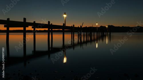 sunset at the pier © pixelleo