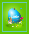 Greeting card to easter holiday