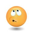 Emoji hesistation.with expressive teeth
