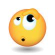 Emoji with wonderment emotions