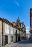 Facade of San Bartolome baroque church in Pontevedra city - 249932612