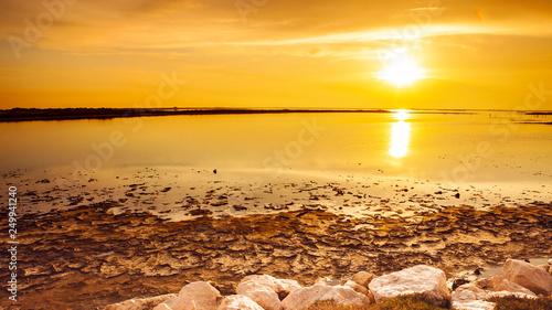 obraz PCV sunset sea beach
