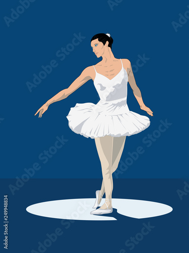 Ballet Dancer Vector Illustration © FrederickS