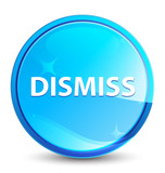 Dismiss splash natural blue round button