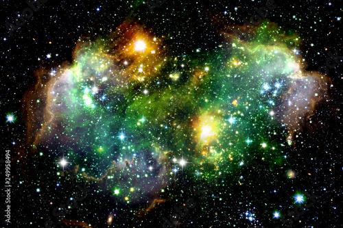 Space nebula. Star formation. - 249958494