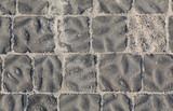 Pavimento stradale sporco di sabbia