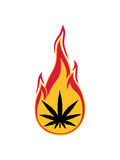 feuer flammen heiß brennen fackel joint clipart logo hanf weed cannabis kiffen kiffer stoned rauchen drogen bekifft illegl design cool design