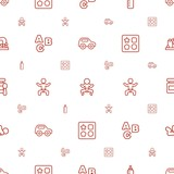 child icons pattern seamless white background
