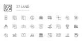 land icons set - 249981423