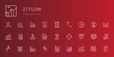 flow icons set - 249982636