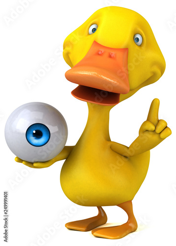 Fun duck - 3D Illustration © Julien Tromeur