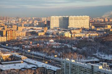 Moscow city winter panoramic views
