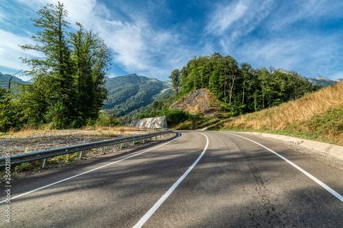Asphalt mountain road. © nordroden