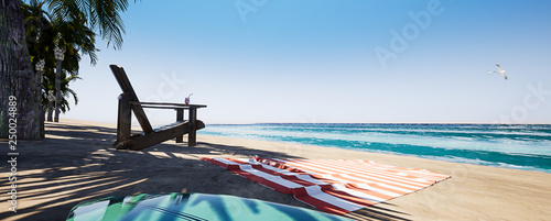 Paradise Beach Background 3 - 250024889