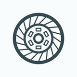 Car clutch vector icon