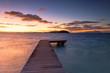 Quadro Jetty and Sofitel Private Island at dawn, Bora Bora, Society Islands, French Polynesia