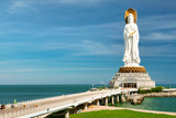 The largest and most popular statue of the goddess Guanyin in Nanshan Park. Sanya, Hainan.