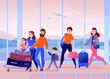 Travelers Airport Illustration