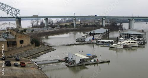 Bridge over Mississippi River at Memphis, TN 4k