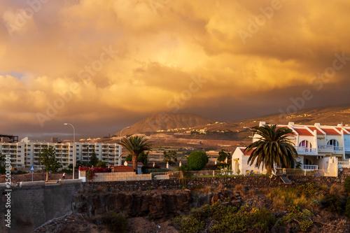 Tenerife  Cloudy Sunset - 250083801