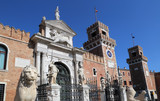 Gate to the Arsenal in Venice, Italy