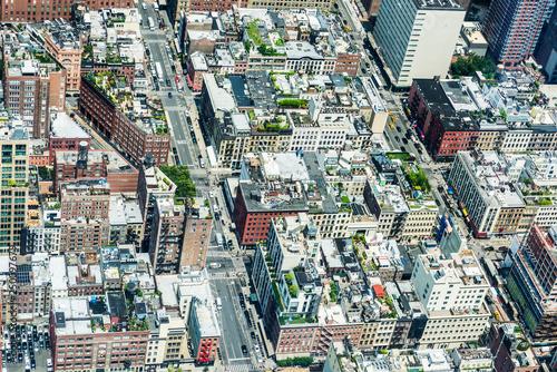 fototapeta na ścianę Elevated view of Manhattan in New York City, USA