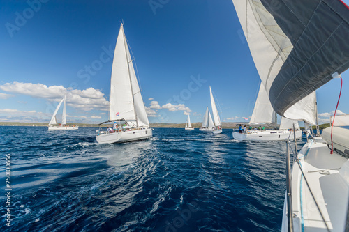 Sailing regatta yachts competition