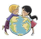niños con planeta tierra - 250118613