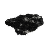 Fluffy soft skin of wool black on a white background 3d rendering