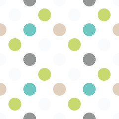 Blue round seamless pattern. Geometric background with circles. Vector illustration.