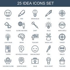 25 idea icons