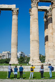 The columns of Zeus's temple in Athens Greece