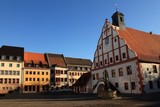 Marktplatz mit Rathaus in Grimma
