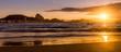 Quadro Idyllic sunrise in Copacabana Beach in Rio de Janeiro, Brazil